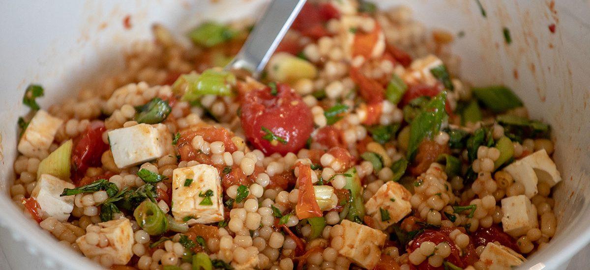 Roasted Tomato Couscous Salad